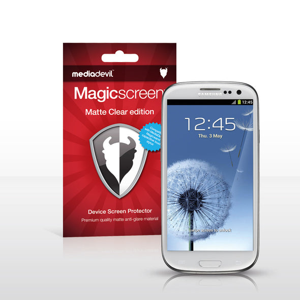 Magicscreen screen protector - Matte Clear (Anti-Glare) Edition - Samsung Galaxy S III