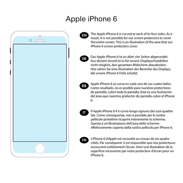 Apple iPhone 6/6s Tempered Glass Privacy Screen Protector | Magicscreen