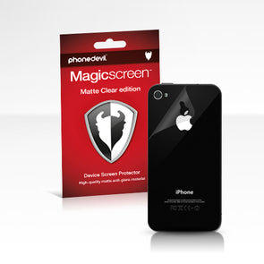Magicscreen back protector - Matte Clear (Anti-Glare) edition: Apple iPhone 4/4S