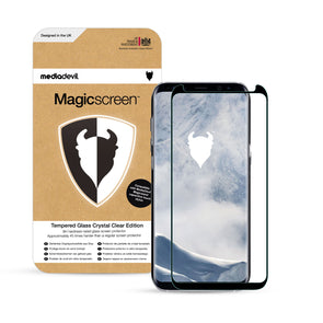 Samsung Galaxy S8 Full-Screen Tempered Glass Screen Protector (Clear) | Magicscreen