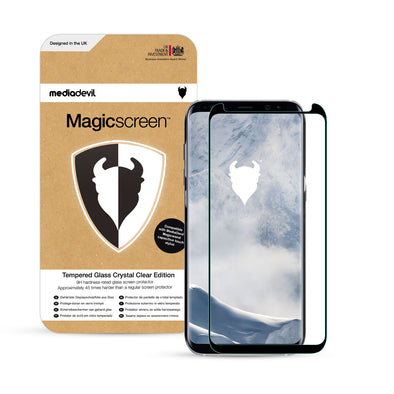Samsung Galaxy S8+ (S8 Plus) Full-Screen Tempered Glass Screen Protector (Clear) | Magicscreen