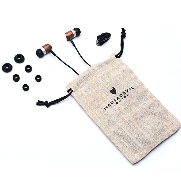 MediaDevil Artisanphonics CB-01 Nanene® Graphene-Enhanced Luxury Wood Earphones
