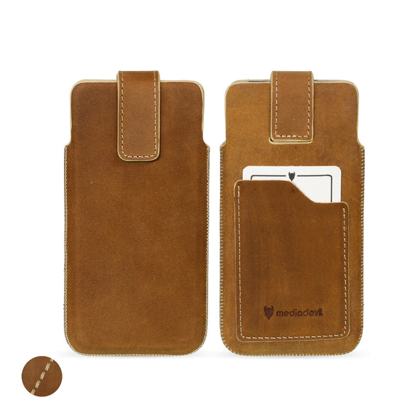 Genuine European Leather Pouch Phone Case - Universal Size 5 (XL) | Artisanpouch