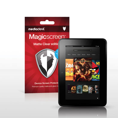 Magicscreen screen protector - Matte Clear (Anti-Glare) Edition - Amazon Kindle Fire HD 7""
