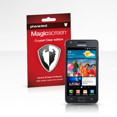 MediaDevil Magicscreen screen protector for the Samsung Galaxy S II - Crystal Clear (Invisible) edition