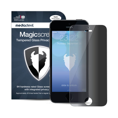 Magicscreen Screen Protector: Tempered Glass Privacy edition - Apple iPhone SE/5/5s - (1 x Glass Screen Protector)
