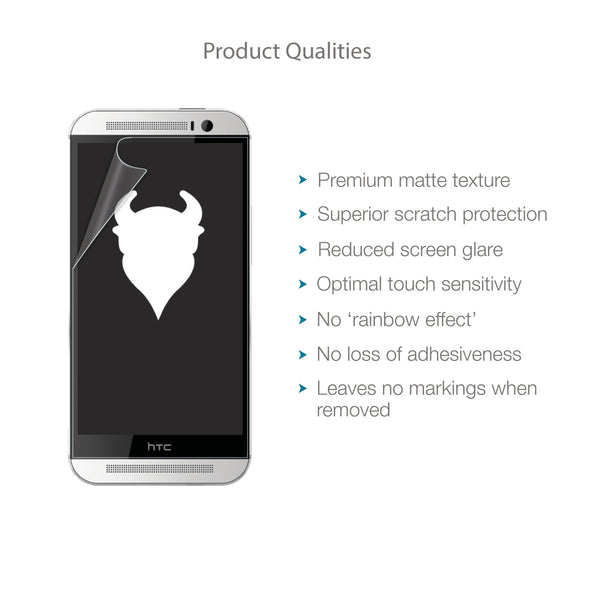 HTC One 2014 (M8) Matte Clear (Anti-Glare) Screen Protector | Magicscreen
