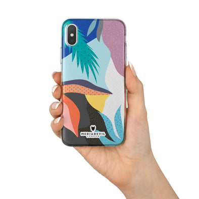 iPhone X / XS Case - Abstract Pattern - Reinforced TPU Gel Case