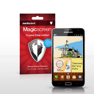 Magicscreen screen protector: Crystal Clear (Invisible) edition - Samsung Galaxy Note