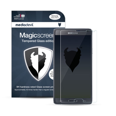 Samsung Galaxy Note 4 Tempered Glass Screen Protector (Clear) | Magicscreen