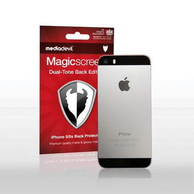Magicscreen back protector - Dual-tone (Glossy/Matte) Edition - Apple iPhone 5/5s - Back