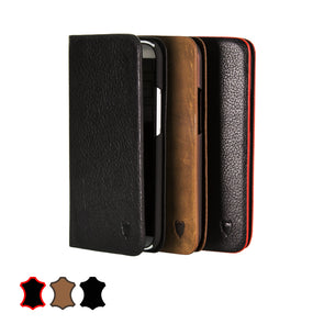 HTC One 2014 (M8) Genuine European Leather Notebook Case with Stand | Artisancover (1st Gen.)