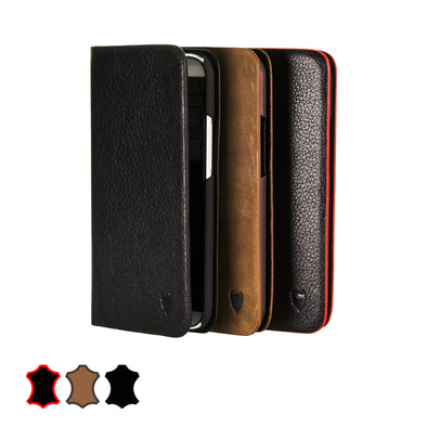 Artisancover (1st Gen.) genuine European leather case with integrated stand and card holders - HTC One 2014 (M8)