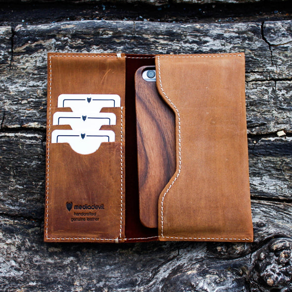 Genuine European Leather Wallet Pouch Phone Case | Artisanwallet