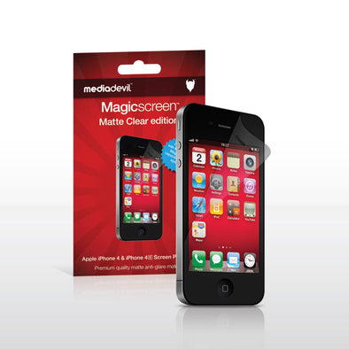 Magicscreen screen protector - Matte Clear (Anti-Glare) Edition - Apple iPhone 4 / 4S