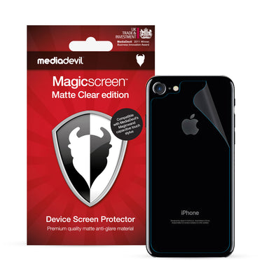 Magicscreen back protector - Matte Clear (Anti-Glare) Edition - Apple iPhone 7 & iPhone 8 - Back