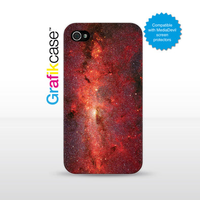 Grafikcase iPhone 4/4S case: Red Galaxy