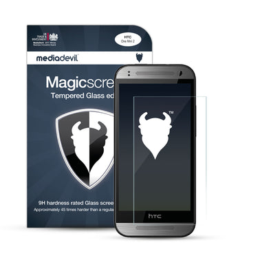 HTC One Mini 2 Tempered Glass Screen Protector (Clear) | Magicscreen
