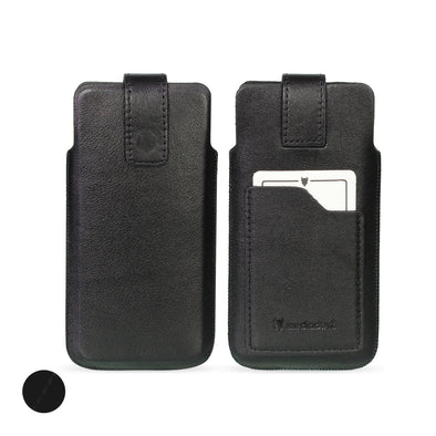 Full-Grain Genuine Leather Pouch Phone Case - Universal Size 2 (S)