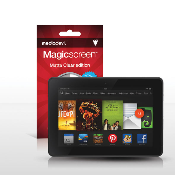 "Amazon Kindle Fire HD 7"" (2013) Matte Clear (Anti-Glare) Screen Protector 