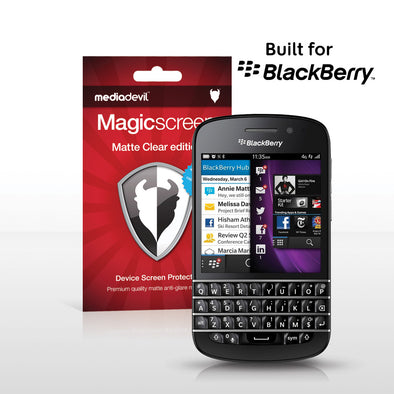 BlackBerry Q10 Matte Clear (Anti-Glare) Screen Protector | Magicscreen