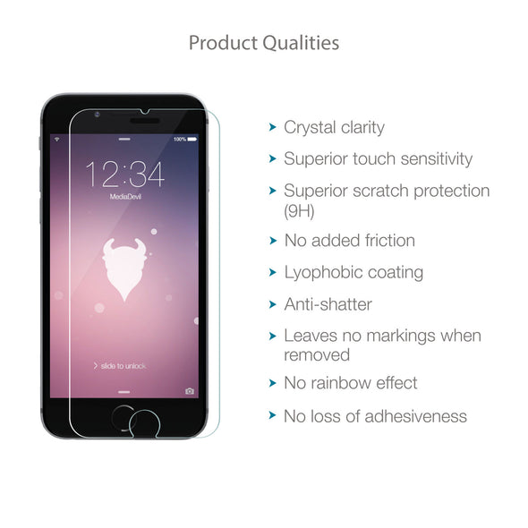 Apple iPhone 6/6s Tempered Glass Screen Protector (Clear) | Magicscreen