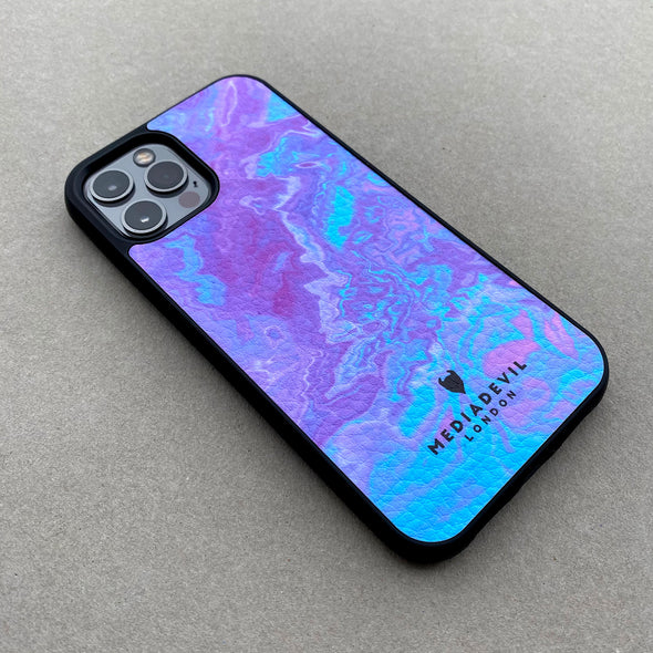 iPhone 11 Pro Max Plant Leather Case - Tie Dye Acid Wash Collection