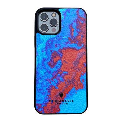 iPhone 12 Pro Max Plant Leather Case - Tie Dye Acid Wash Collection
