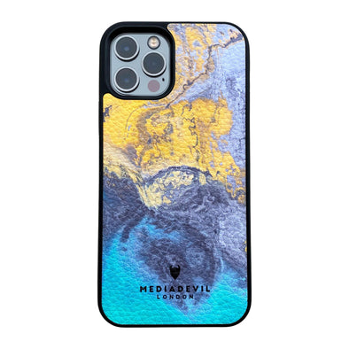 iPhone 12 / 12 Pro Plant Leather Case - Tie Dye Acid Wash Collection