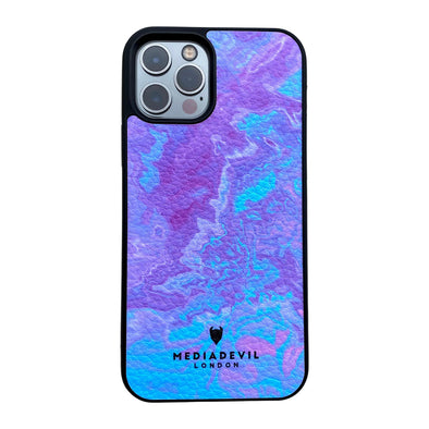 iPhone SE (2020) & iPhone 8/7 Plant Leather Case - Tie Dye Acid Wash Collection