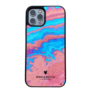 iPhone 12 Mini Plant Leather Case - Tie Dye Acid Wash Collection
