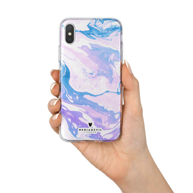Apple iPhone X Case - Marble Pattern - Reinforced TPU Gel Case