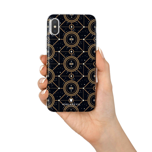 Apple iPhone X / XS Case - Sacred Geometric Pattern - Reinforced TPU Gel Case