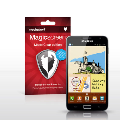 Magicscreen screen protector - Matte Clear (Anti-Glare) Edition - Samsung Galaxy Note