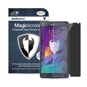 Samsung Galaxy Note 4 Tempered Glass Privacy Screen Protector | Magicscreen