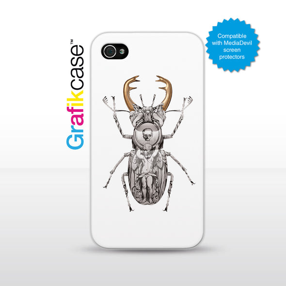 Grafikcase iPhone 4/4S case: Stag Beetle by Magnus Gjoen