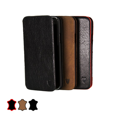 Samsung Galaxy S5 Genuine European Leather Notebook Case with Stand | Artisancover (1st Gen.)