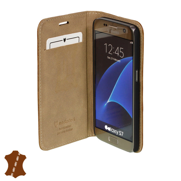 Samsung Galaxy S7 Genuine Leather Case with Stand | Artisancover