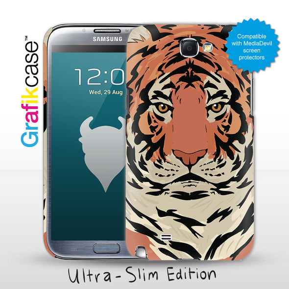 Grafikcase Samsung Galaxy Note II / 2 case: Tiger - Glossy