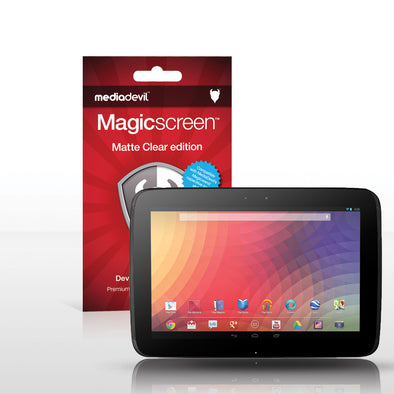 Magicscreen screen protector - Matte Clear (Anti-Glare) Edition - Google Nexus 10 by Samsung