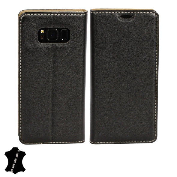 Samsung Galaxy S8 Genuine Leather Case with Stand | Artisancover