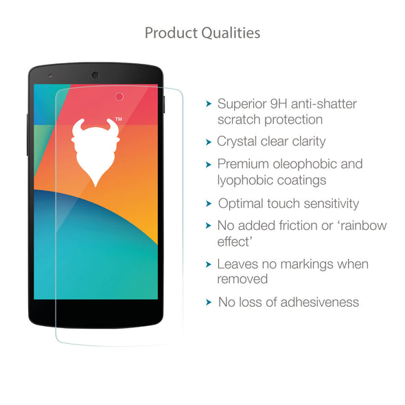 Google Nexus 5 Tempered Glass Screen Protector (Clear) | Magicscreen