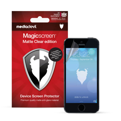 Magicscreen screen protector - Matte Clear (Anti-Glare) Edition - Apple iPhone SE/5/5s