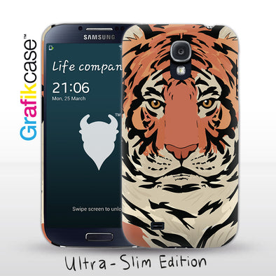 Grafikcase Samsung Galaxy S4 case: Tiger