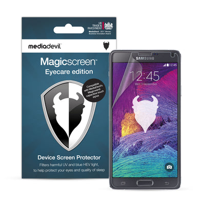 Samsung Galaxy Note 4 Anti-Blue Light Screen Protector (Eyecare) | Magicscreen
