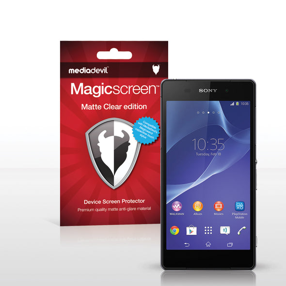 Sony Xperia Z2 Matte Clear (Anti-Glare) Screen Protector | Magicscreen