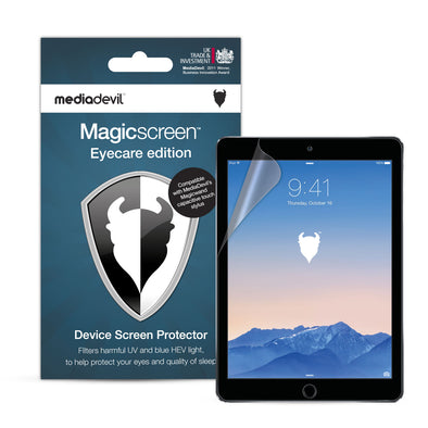 "Apple iPad (2017-2018), iPad Air 1/2 & iPad Pro (9.7"") Anti-Blue Light Screen Protector (Eyecare) 