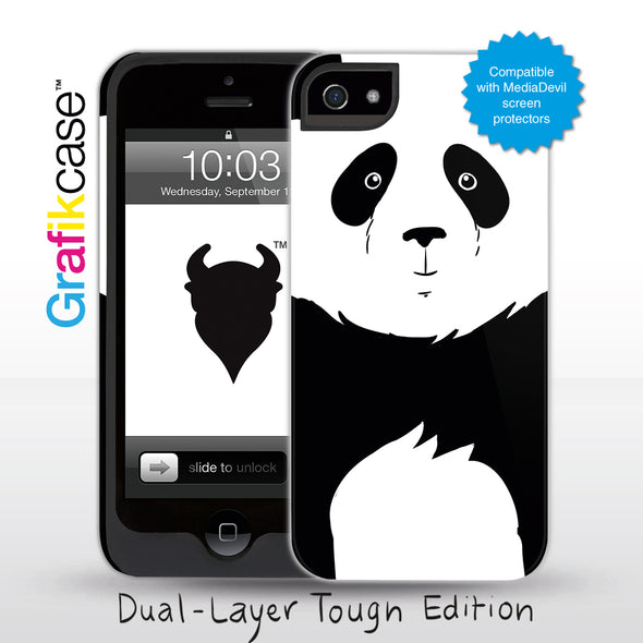 Grafikcase iPhone 5 case: Panda