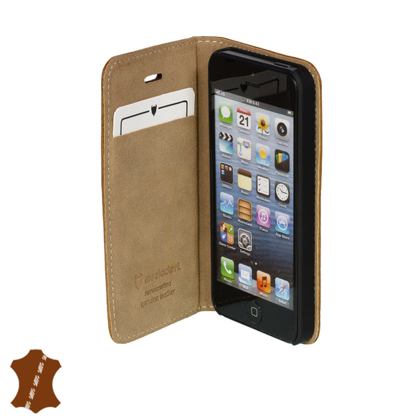 iPhone SE (1st Gen) & iPhone 5/5s Genuine Leather Case with Stand | Artisancover
