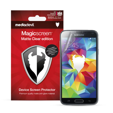 Magicscreen screen protector - Matte Clear (Anti-Glare) Edition - Samsung Galaxy S5